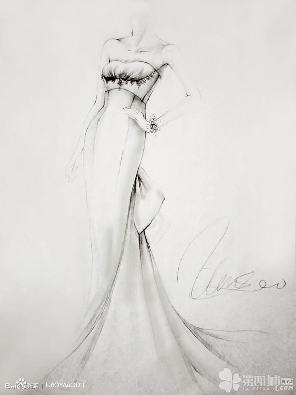 婚纱设计图片手绘图片 手绘婚纱设计图片大全 婚纱设计图铅笔手稿 手