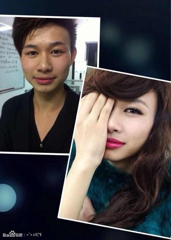 如何利用出神入化的化妆技巧把一男生变成女生