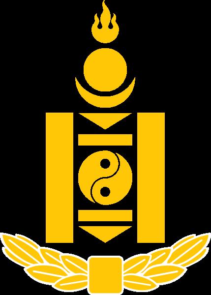 外蒙古国旗国徽图片