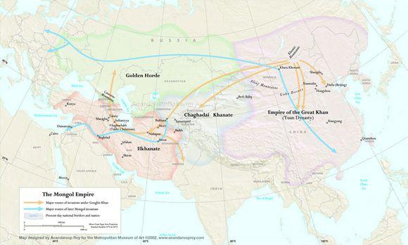 蒙古帝国的几幅地图集图片