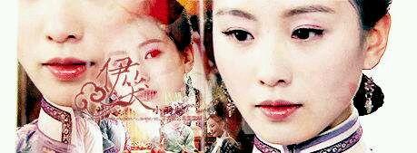 的古装美女丹青图