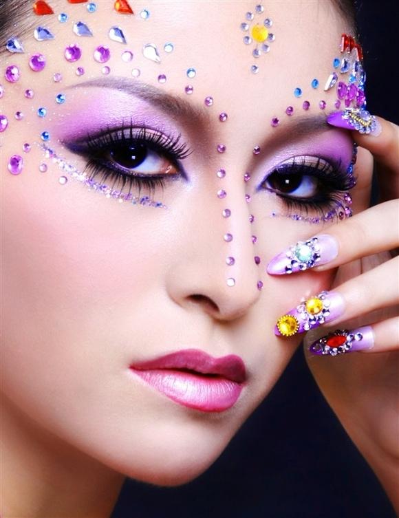 重庆新娘妆,舞台妆,平面创意妆图片