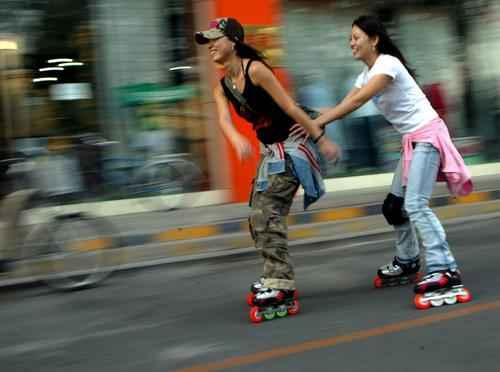 轮滑美女美女轮滑轮滑唯美美图轮滑