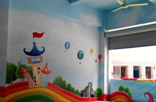 幼儿园墙画彩绘【手绘墙】外墙装饰怎么弄?--石家庄[之典]墙艺图片