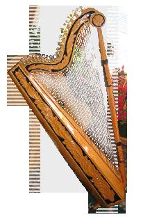 意十足现代竖箜篌--竖琴图片