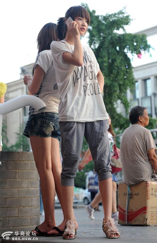 西安街头美女随拍 城市吧