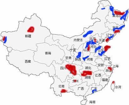 中国帅哥与美女分布图