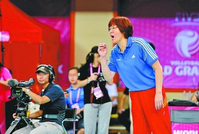 排球大奖赛中国武汉站的比赛昨天结束了赛事,中国女排在和塞高清图片