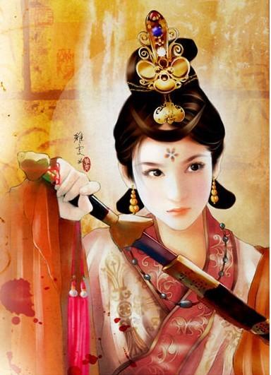 【求图】皇宫美女图 富贵大气的那类
