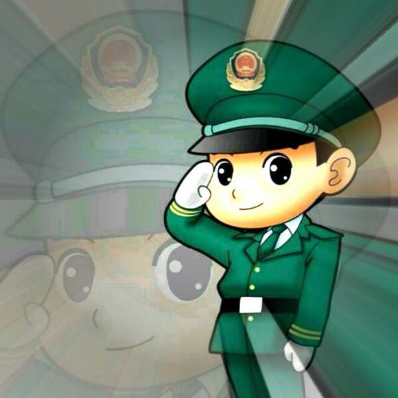 武警军人动漫头像(7)
