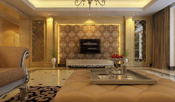 欧式风格效果图,装修房子进图片