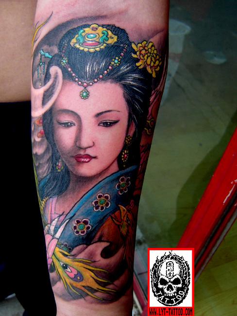 古典美女纹身 纹身吧