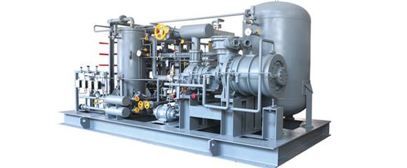 在无油螺杆压缩机中,气体在压缩时不与润滑油图片