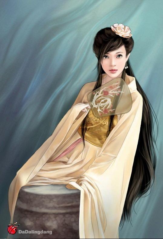 【夜幕】>>>>分享古装美女手绘图图片