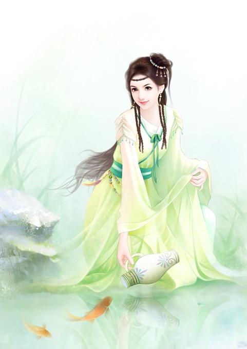 【求图】古代四大美女手绘图图片