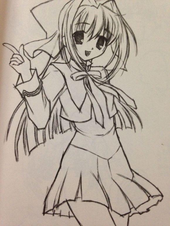 【教程1】美少女初步漫画