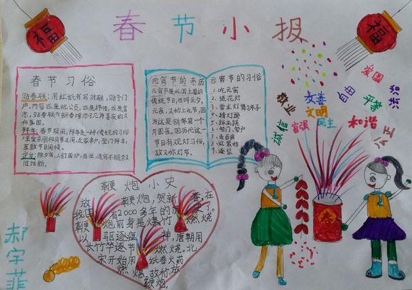 小学生春节画报_元宵节吧_百度贴吧