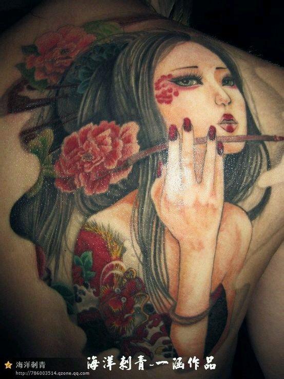 跪求~~花旦纹身,真心喜欢花旦纹身图片
