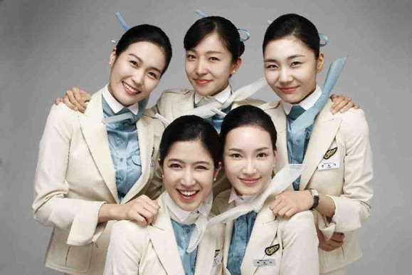 韩国美女空姐 大韩航空