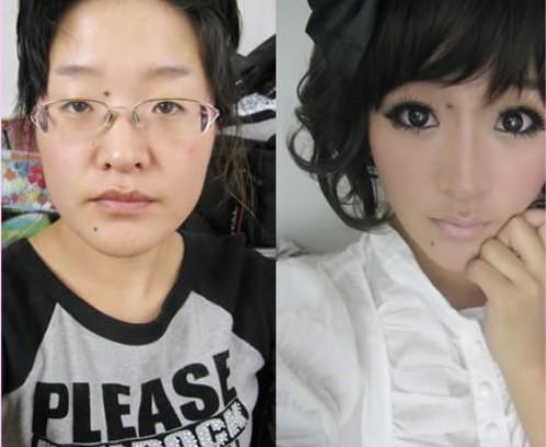 会化妆的 丑男都能变美女了