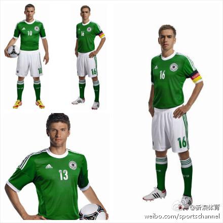 【新浪】德国队2012欧洲杯新客场球衣?图片