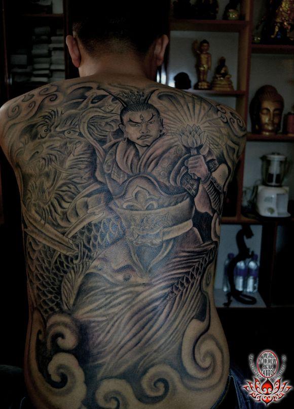 青岛纹身 牟锋刺青:二郎神:杨图片