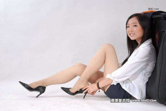袜高跟鞋美女