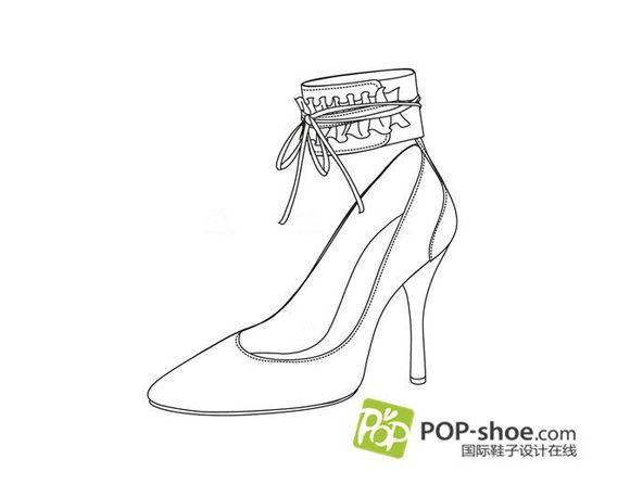 2014年鞋子设计手稿素描图图片