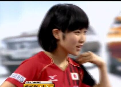 仁川亚运会日本女乒队14岁女队员平野美宇VS朱雨玲资料生活照