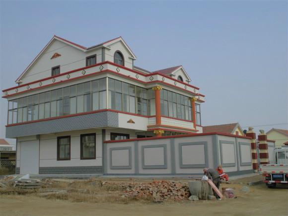 农村房屋外墙真石漆 喷砂 效果图 赣榆沙河吧 百度贴吧 高清图片