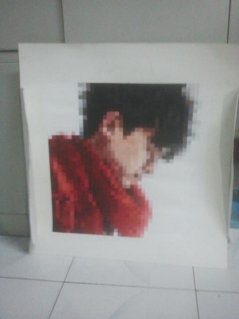 我画的张小杰 空间混合版 俗称马赛克了 张杰吧 百度贴吧 高清图片