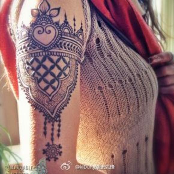靠谱印度纯天然海娜暂时性纹身介绍图片