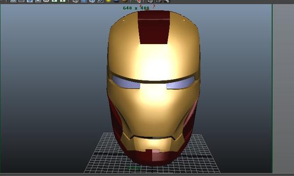 发福利 钢铁侠头盔3d图纸 高清图片
