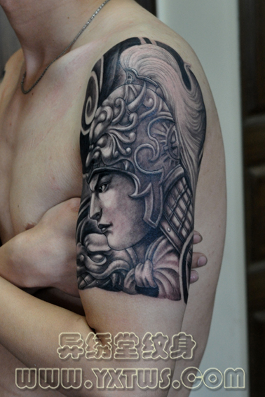 纹身.赵云纹身豹子纹身广西北海纹身刺青猫纹身.黑白色半甲高清图片