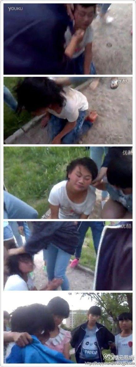 阳原县二中初二的女生打一个三小六年级