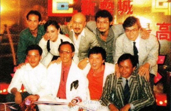 1986年吴宇森导演与徐克,麦嘉图片