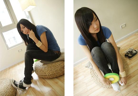气质白袜少女