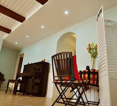 110平米装修,打造了两居室,每一个居室都还是很宽敞的,开放式高清图片