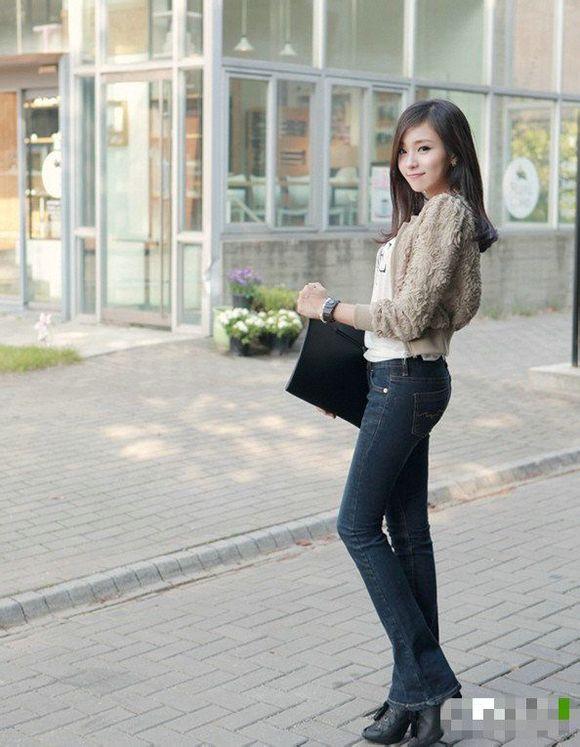 牛仔裤美女 牛仔裤的诱惑吧