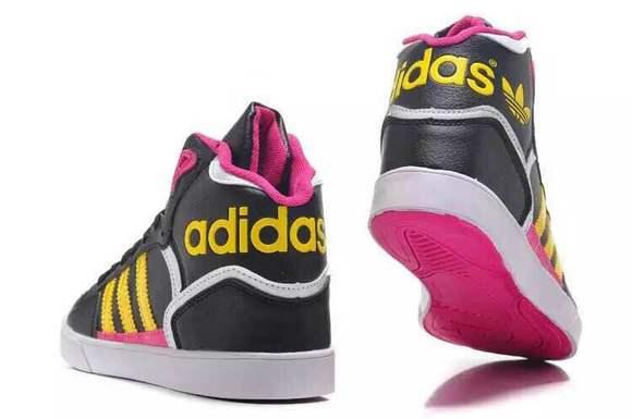 李宇春同款皮面黑黄 李宇春同款 adidas高帮女鞋 36 39 包