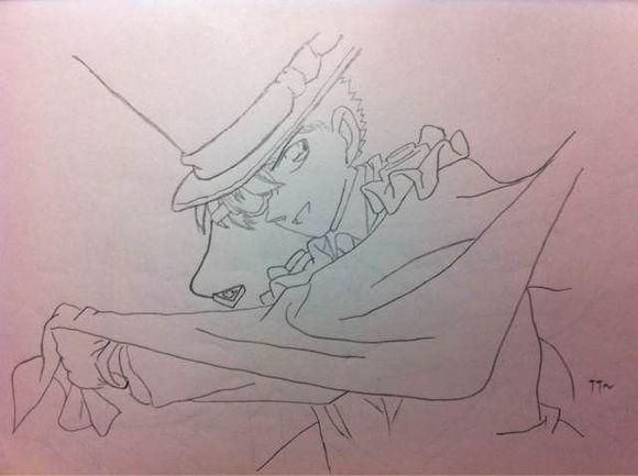 4k柯南手绘铅笔画图片