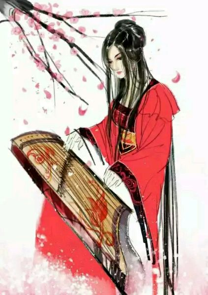 有没有特别妩媚的古风红衣女子图图片