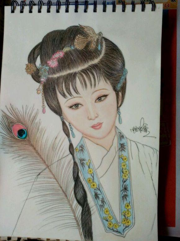 【手绘】古装美女图片