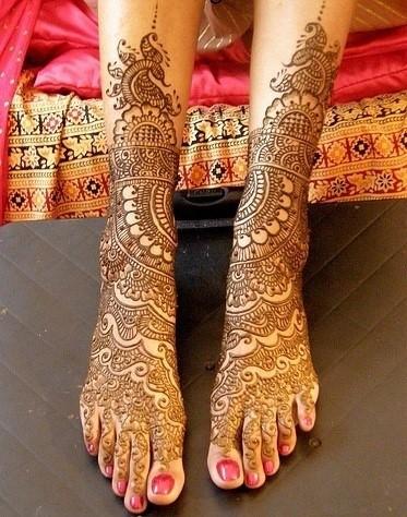 【印度海娜纹身】_纹身吧图片