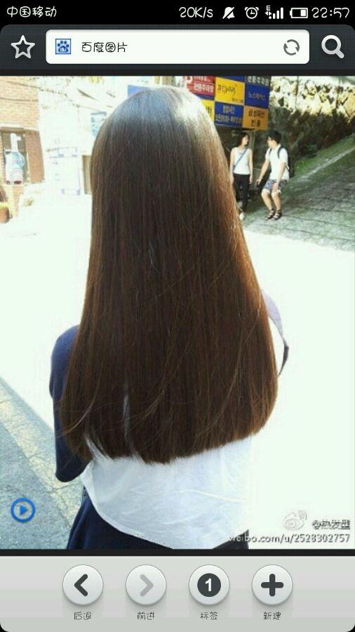 ... 背影发型_【求图】请发一些齐发尾中长直发的背影图