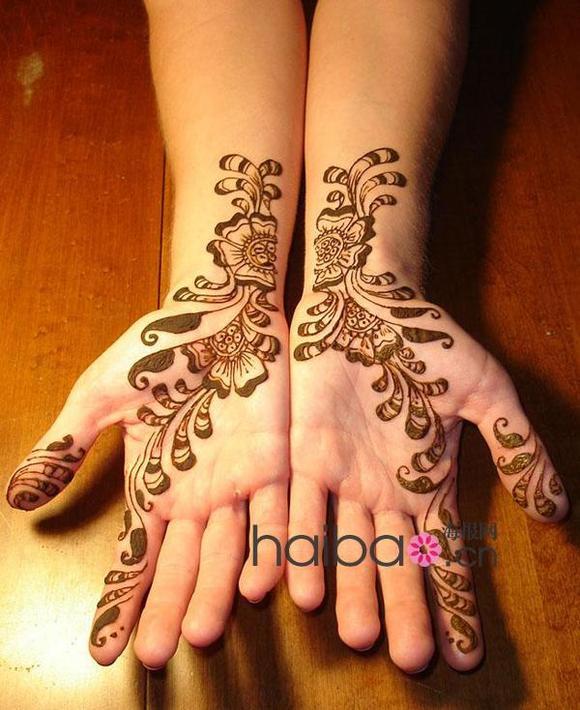 hanna印度彩绘纹身图片