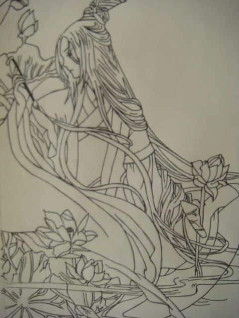 【手绘】手绘—---—《梦回古风图片