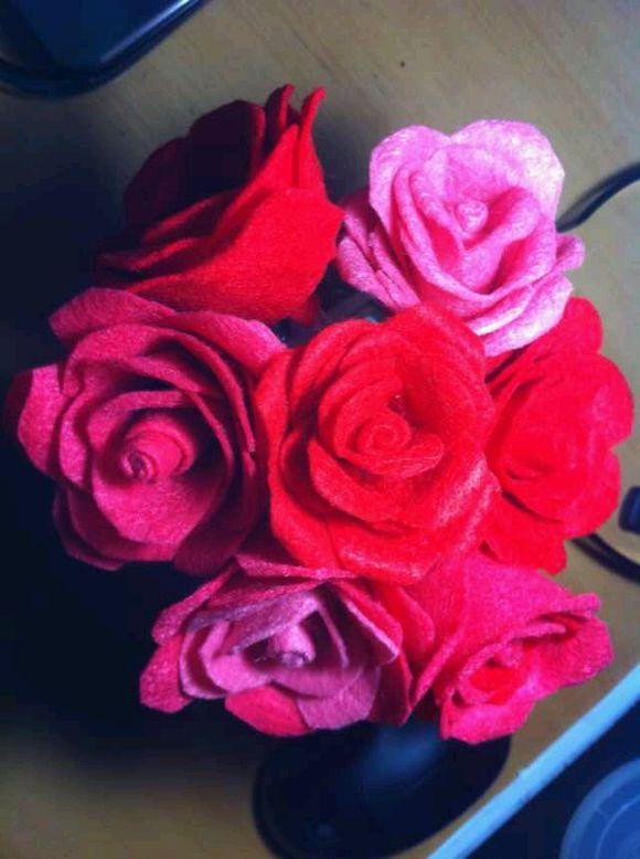 我的不织布玫瑰花图片
