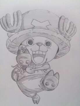 人物铅笔画图片大全-路飞_儿童铅笔画_中国婴幼儿教育网-海贼王乔巴