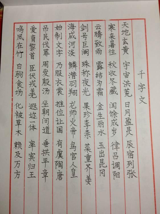 小学生硬笔书法作品展示(已排版精美稿纸)图片